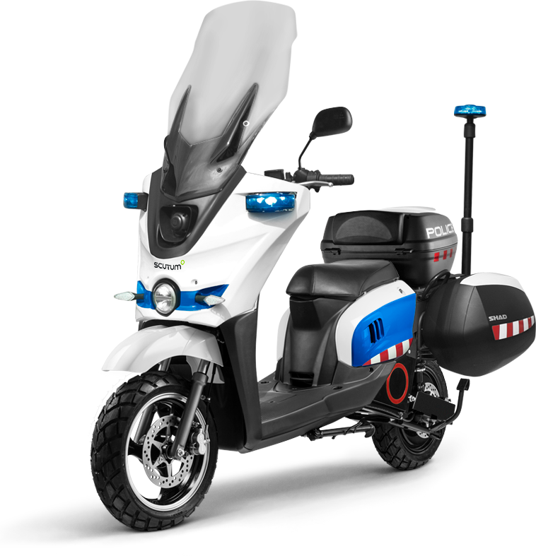 scooter elèctric per policia
